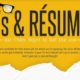 CVs &Résumés Get Them Right to Get the Job - Infographic