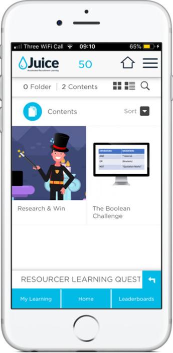 Recruitment Juice App Screenshot
